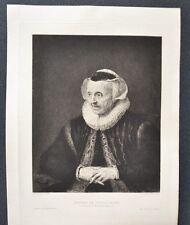 Eau Forte XIXème - Portrait de Vieille Femme - Rembrandt - Edmond Ramus