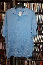 Peter Millar Titleist Footjoy Golf Polo Shirt Light Blue  L   (bin77)