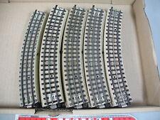AN563-1# 23x Märklin/Marklin H0/00/AC Piezas de vía m pista curvo para 3600/800
