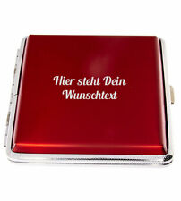Zigarettenetui 20er rot Zigarettenbox Aluminium mit kostenloser Wunschgravur