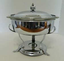 Danny Wilson Original Chrome Silver Plate Chafing Warmer Pyrex Glass Insert