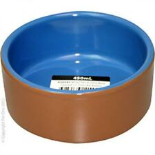 Pet One Terracotta Bowl Blue Glazed 450ml 11.7cm Dia