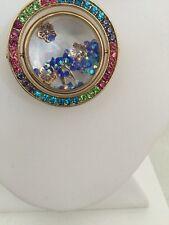 $65 Betsey Johnson xox Trolls Collection Rhinestones Gold -Tone Necklace T13