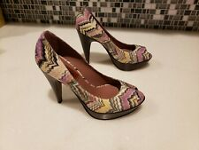 Missoni Shoes Teal / Womens Platform Peep Toes - New - 100% Authentic