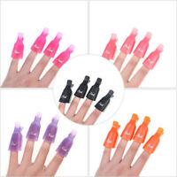 10PCS Stylish Plastic Nail Art Soak Off UV Gel Polish Remover Wrap Tool Clip Cap