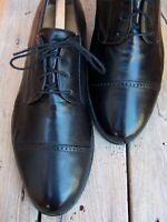 BALLY Mens Casual Dress Shoes Soft Black Leather Cap Toe Italian Oxford Size 10D