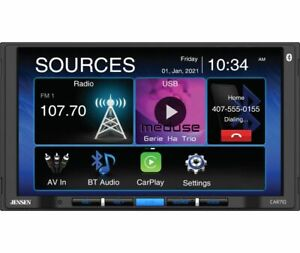 "Jensen CAR710 Double DIN 7"" LCD Apple CarPlay Multimedia Car Stereo Receiver"