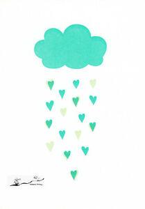 Postkarte: Es regnet Herzen