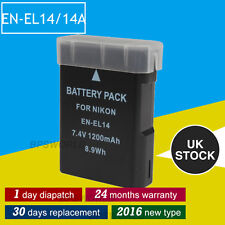 Fully Decoded Battery for Nikon EN-EL14 COOLPIX D3100 D3200 D5100 P7000 P7100 UK