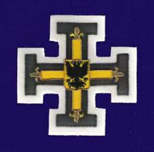 Medieval German Prussian Kingdom Teutonic Knight Cross War Eagle Crusades Patch