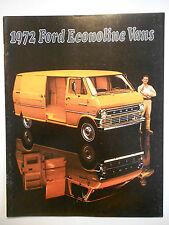 1972 Original Ford Econoline Sales Brochure E-100 E-200 E-300 Models