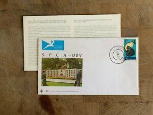 SOUTH AFRICA RSA 1972 FDC CATS RSPCA SPCA CENTENARY + INSERT