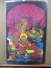 Vintage Black light Poster Magic Forest 1971 saladin G658
