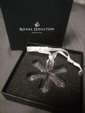 Royal Doulton Crystal Snowflake Ornament 2010 New In Box