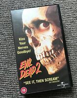 RARE Retro Vintage Original 2000 EVIL DEAD 2 VHS PAL Video Tape