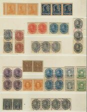 Venezuela: Lot of 48 stamps Fisco Postales, pairs, blocks, streeps, errors VE660