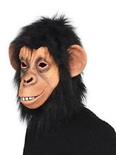 Men's Women's Chimp Full Overhead  Fancy Dress Mask Animal Zoo Wild Monkey