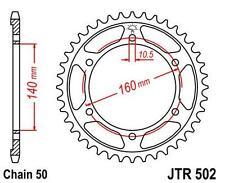 NEW KAWASAKI ZR/ZX/ZZ GENUINE JT STEEL REAR SPROCKET JTR502.45