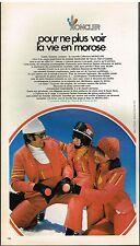 Publicité Advertising 1972 Les Vetements de Ski Moncler