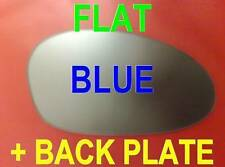 BMW M3 E46 2000-2006 WING MIRROR GLASS BLUE FLAT + PLATE RIGHT OR LEFT