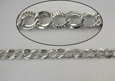 2 Meters double textured ring metal chain W18597