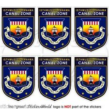 CANAL ZONE Isthmus of Panama Shield USA Mobile Cell Phone Mini Sticker, Decal x6