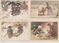 Voor Het Kind Dutch Cards Child Stamps Postcards Vintage Postcards pre-1980