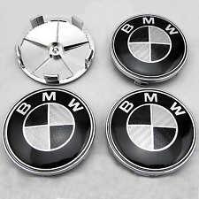 BMW 1 3 5 7 Z4 X3 X5 serie Aleación Rueda Centro Tapas 68mm X4 Fibra de Carbono Negra