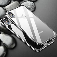 For Apple iPhone X Case Transparent Crystal Clear Case Hard Plastic Cover Skin