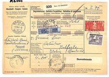 AZ265 1961 Switzerland HIGH VALUES Bern *Insured Mail* Card Italy PTS