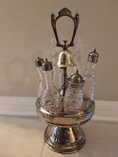 Antique Rogers & Smith Co. Castor Cruet Set with Bell No. 2081