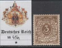 GERMANY - 1889 - Mi 45a cv 120$ MH*  SUPER centered