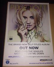 PIXIE LOTT SIGNED 7X5 SIZE PROMO CARD FOR 3RD ALBUM MUSIC AUTOGRAPH POP