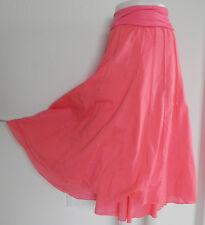 New Lapis Skirt Fit & Flared Full Length Size S  Pink & OrangeTrim Swing Style