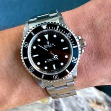 2000 Rolex Submariner 14060 No Date Steel Watch 2 Liner w/ Box and Papers