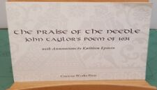 The Praise of the Needle John Taylor's Poem of 1631 Curious Works Press