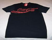 Coca Cola Coke Logo Mens Black Printed Short Sleeve T Shirt Size XL New