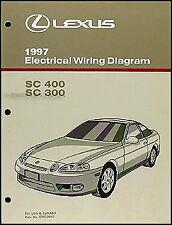 1997 Lexus SC 300 400 Wiring Diagram Manual Original SC300 SC400 Electrical Book