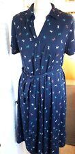 Maine 12 Ladies Navy Button Jersey Shirt Dress