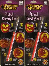 Lot of 2 , Pumpkin Masters 4-in-1 Carving Tool ~Halloween American's Favorite