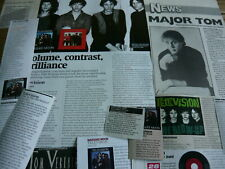 TELEVISION - TOM VERLAINE - MAGAZINE CUTTINGS/CLIPPINGS (REF ZH)