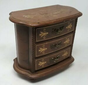 Vintage Chest of Drawers - French Style Jewellery Box 21 x 18 x 11.5 cms
