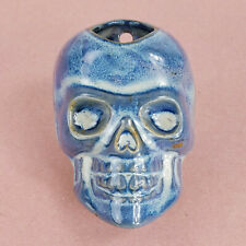Handmade Glazed Ceramic Pottery Decorative Skull Skeleton Wall Planter or Plaque