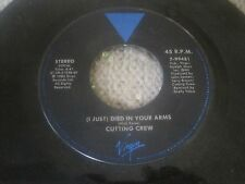 Rock 45 Cutting Crew - (I Just) Died In Your Arms / For The Longest Time On Virg