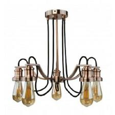 SEARCHLIGHT 1065-5CU Olivia 5-Light Ceiling Fitting Antique Copper, Black Cable