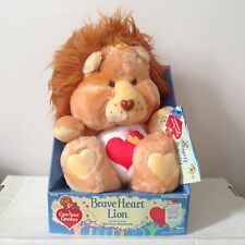 "Vintage Care Bear Cousins - ""Brave Heart Lion"" - NOS Still On Box - 80's Gold!"