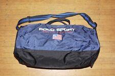 VTG Polo Sport Ralph Lauren Flag Logo Blue Duffel Bag