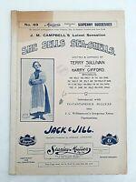 She Sells Sea Shells Terry Sullivan Jack & Jill Panto JC Williamson AUS 1909