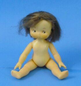 "VINTAGE 1975 Rare Knickerbocker Sunbonnet Babies Mandy Nude Doll 6"" L@@K"