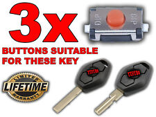 3x SWITCH BUTTON REMOTE KEY BMW 3 5 7 Serie X3 X5 E46 E38 E39 E60 E61 E53 E83
